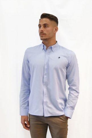 Camisa algodón celeste