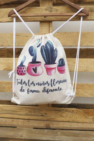 mochila saco cactus