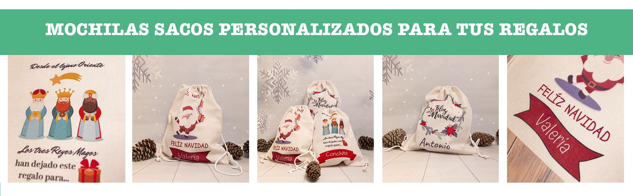 Sacos personalizados navidad